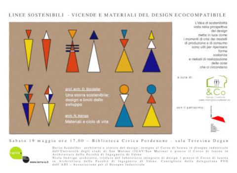 LINEE SOSTENIBILI – VICENDE E MATERIALI DEL DESIGN ECOCOMPATIBILE – Terraè 2012