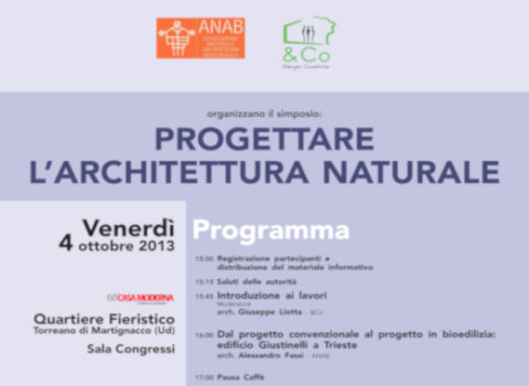 PROGETTARE L'ARCHITETTURA NATURALE – 60′ Casamoderna – 2013