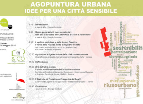 "Convegno ""Agopuntura urbana: idee per una città sensibile"" – Terra-è – PORDENONE – 2014"
