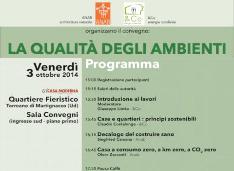 Convegno LA QUALITÀ DEGLI AMBIENTI – 61'CasaModerna – 2014